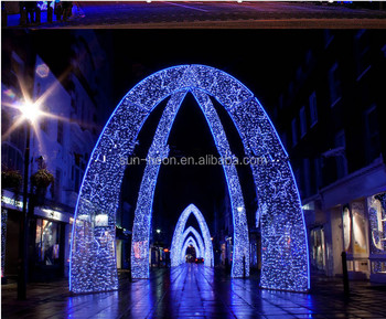 Outdoor christmas decorations rope lights across street arch light outdoor christmas decorations rope lights across street arch light aloadofball Images