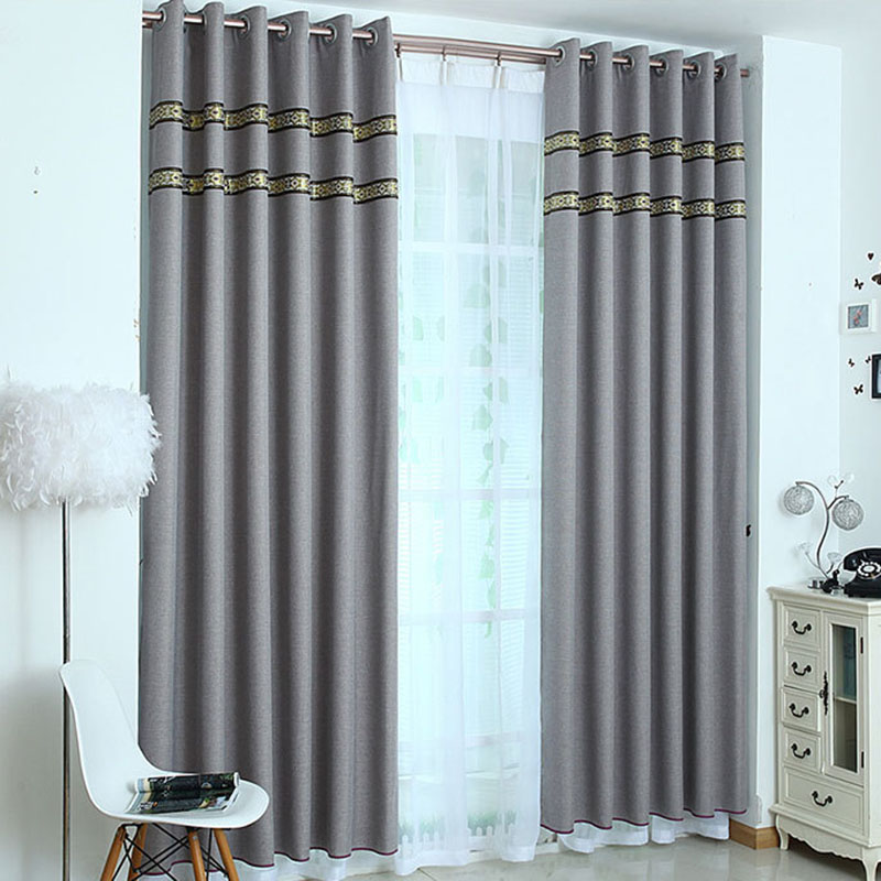 Factory sale wholesale 100% polyester blackout hotel quality blackout curtains