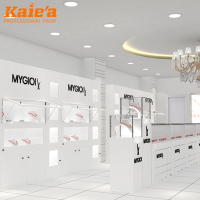 Wholesale fashion luxury modern glass jewelry shop counter furniture interior design jewellery display showcase