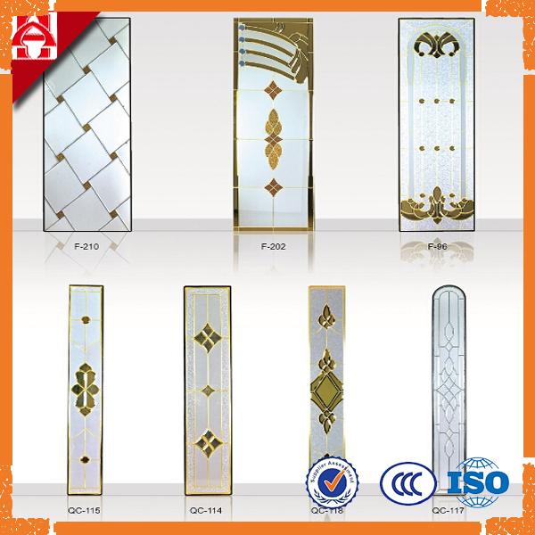 Puerta de cristal biselado de vidrio aislante de color - Cristales de colores para puertas ...