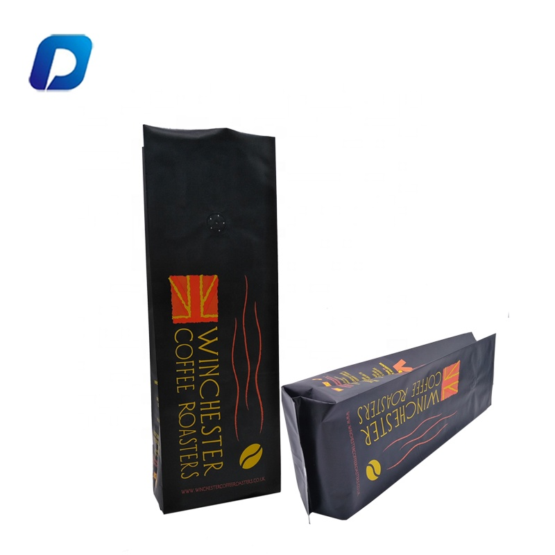 High quality custom printed stand up plastic tea packaging foil coffee food packing bag