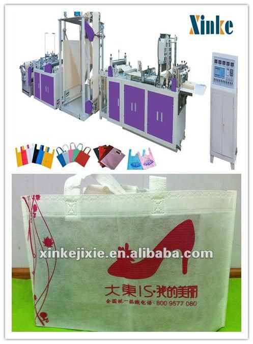 full automatic non woven shoes box packing bag making machine