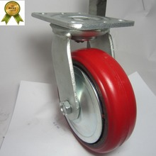 Direction Pu Cast Iron Type Heavy Duty Caster Wheel With Ball Bearing