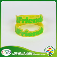 Newest bangles accessories accepted free sample with debossed logo silicone wristband
