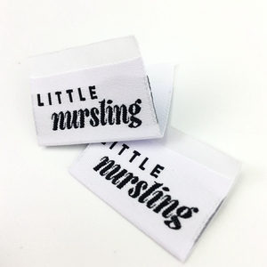 Wholesale high quality cheap garment labels/woven garment tag/clothing labels sew on custom