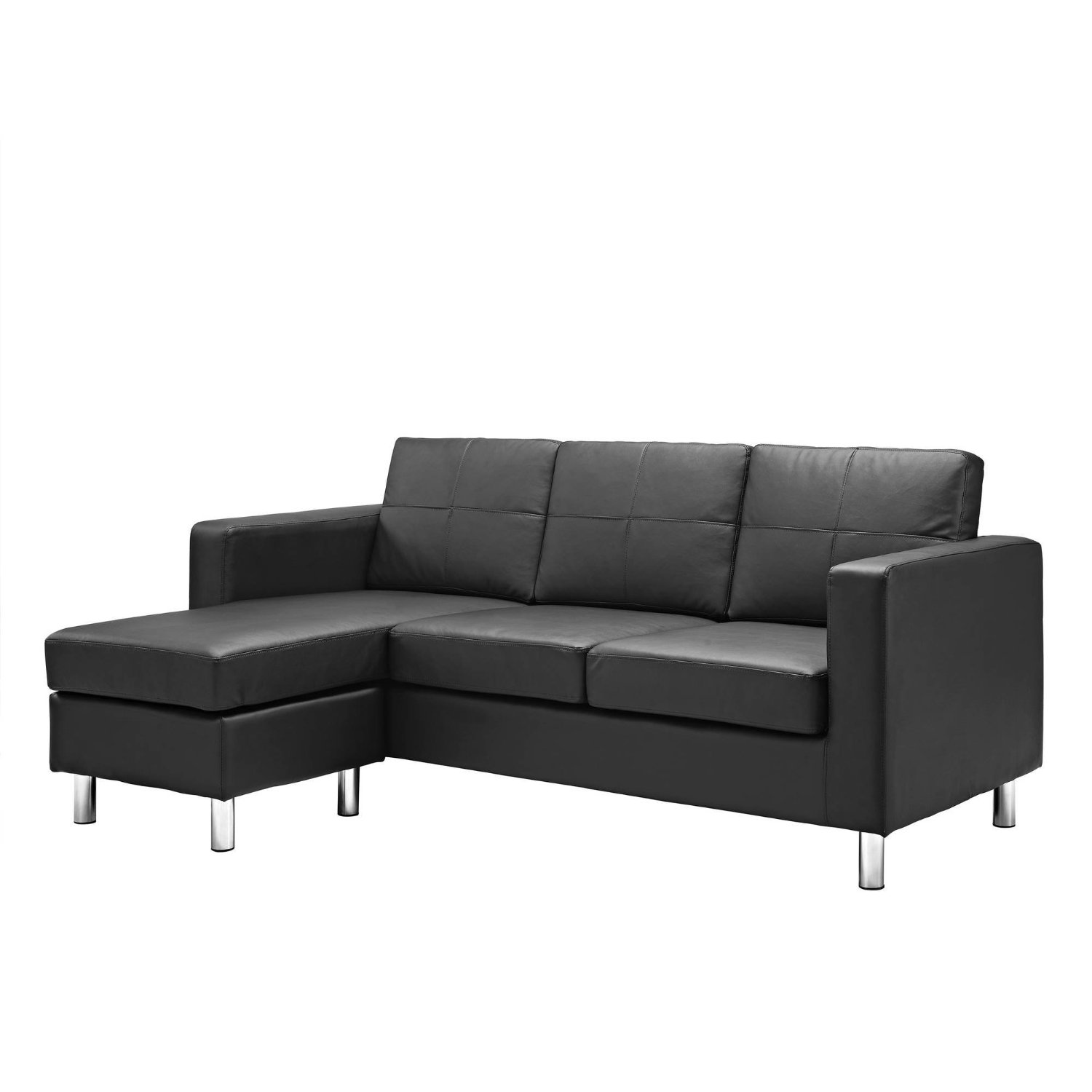 Modern Luxury Sofa Leather Sectional Couch Chaise Living Room Furniture Home Office Space
