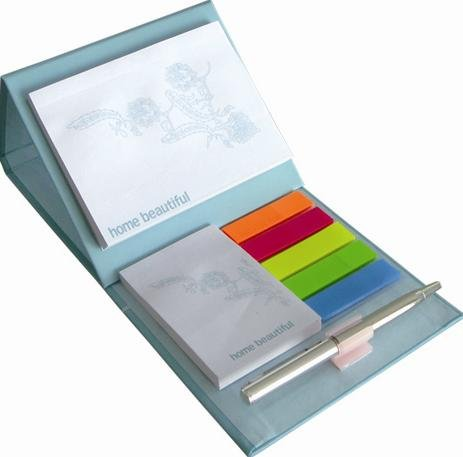 memo pad with hard cover
