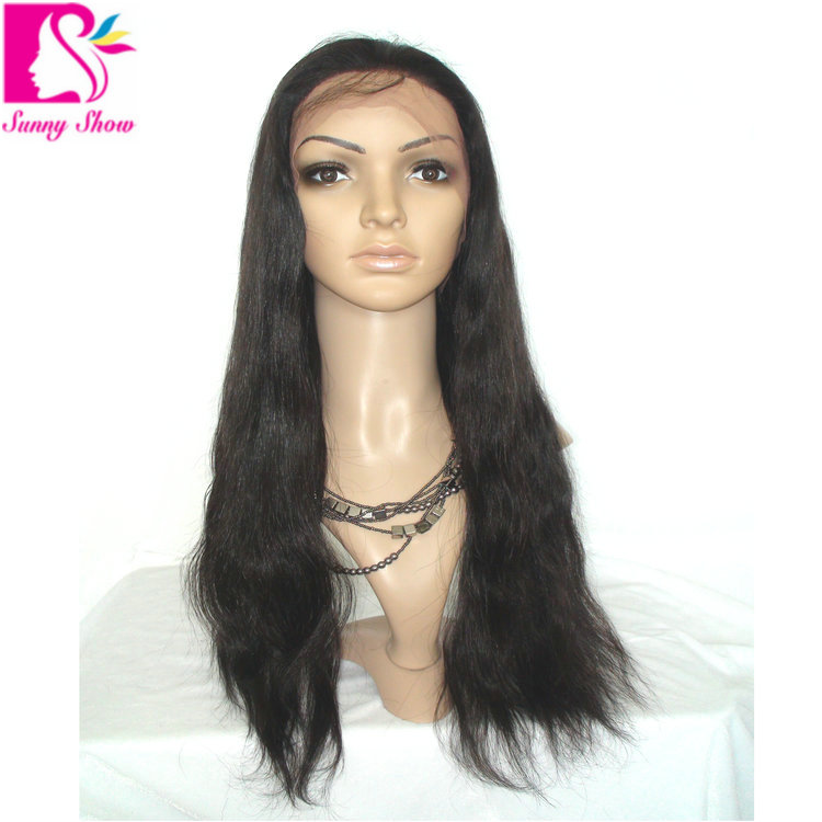 d1e18039e Get Quotations · 7A High Density Long Silky Straight Brazilian Virgin Human  Hair Full Lace Wigs Brazillian Lace Front