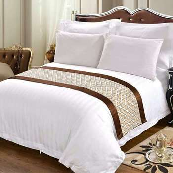 China supplier white cotton fabric bed sheets/soft bed linen set hotel