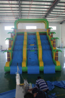 Palm tree residential Inflatable slide, inflatable water slide giant for family used