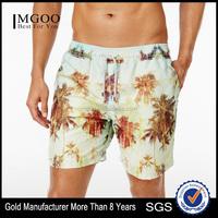 OEM Customize Elastic Drawstring Waist Swim Shorts Comfort and Beach-ready Style Trunks Polyester Quick Dry Swimwear