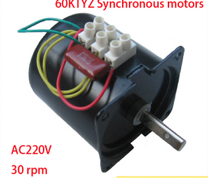 60mm diameter Reversible all metal gear 220v/14w/30rpm AC synchronous motor gearbox motor