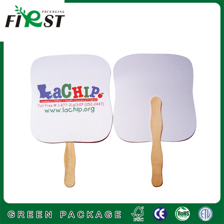 Logo Printed High Quality Paper Hand Fan,promotional advertising cheap paper hand fans