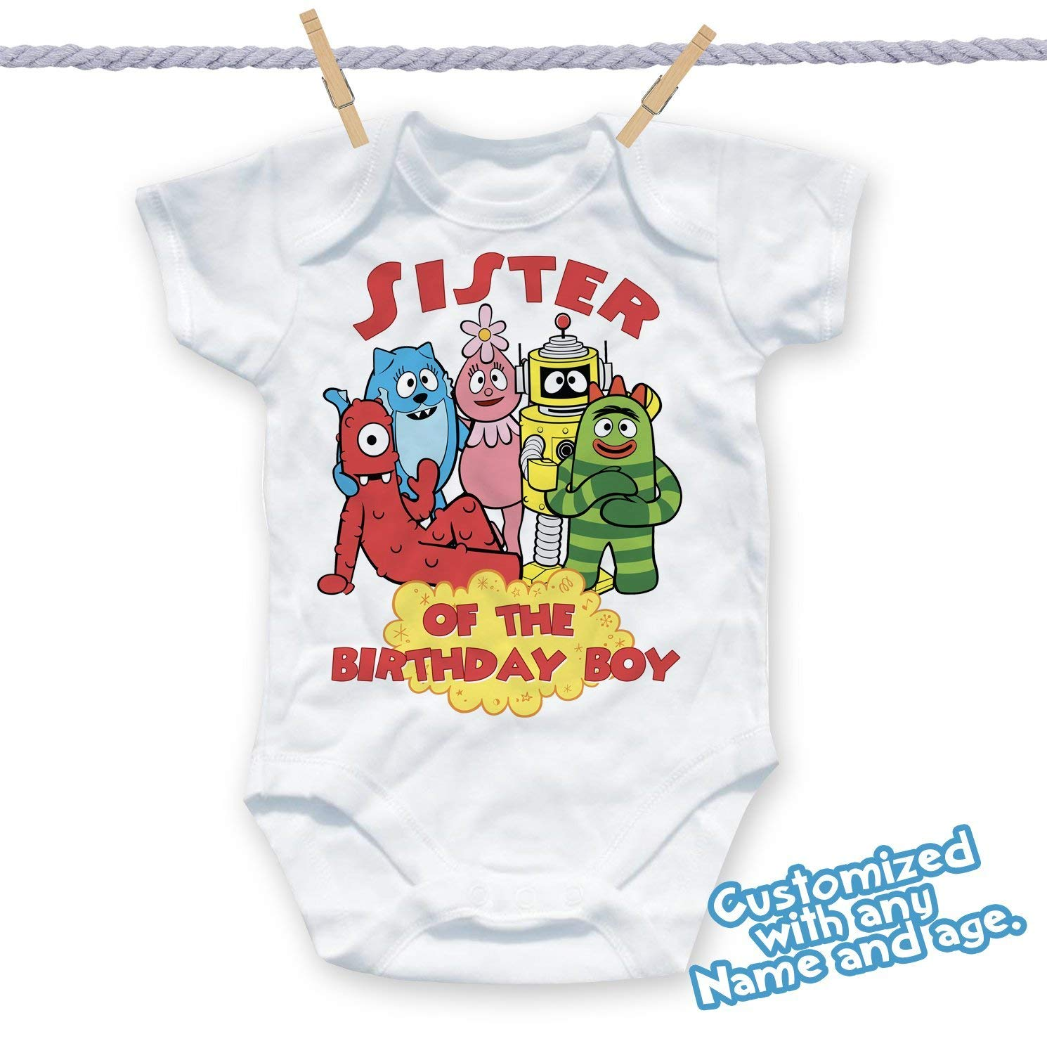 Get Quotations Yo Gabba Birthday Shirt Customized Name And Age Personalized Party