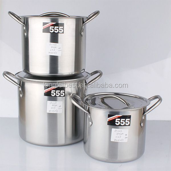555 Stainless Steel Straight Magnetic Cooking Pot With Steel ...