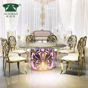 Fashion Wedding Occasion Led light round tables for events