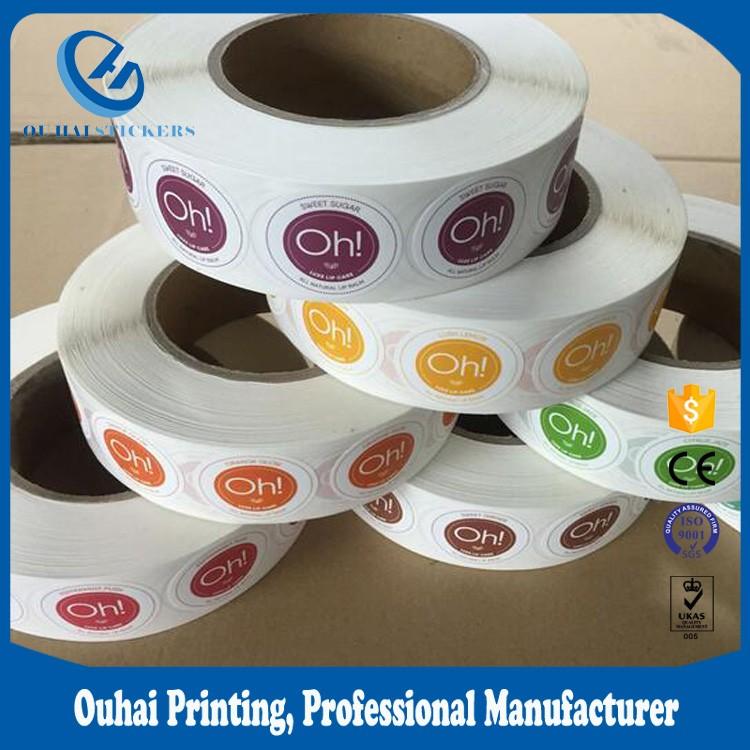Rodada círculo rolo de papel etiqueta do telefone móvel