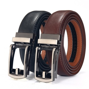 Fashionable Real Leather Durable Men's Belt with Pin Alloy Buckle