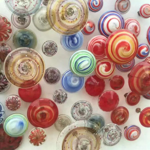 handmade glass art hotel lobby wall decoration