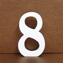 1 шт. 8 см 0-9 A-Z свободно стоящий белый деревянный цифры буквы персональное имя Слова Дизайн креативное Искусство ремесло Свадебный домашний ...(Китай)