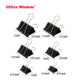 new packing amazon hot sell 150 pack 6 size black metal paper binder clips