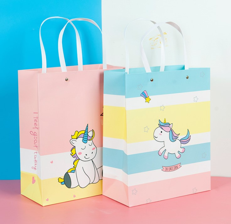 fashion cute gift pack hot design Unicorn paper bag