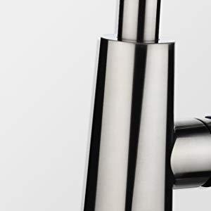 PH7 FAU-601 एकल संभाल नीचे खींच स्प्रेयर रसोई सिंक नल नल डेक प्लेट और डॉकिंग प्रणाली के साथ क्रोम रसोई Faucets