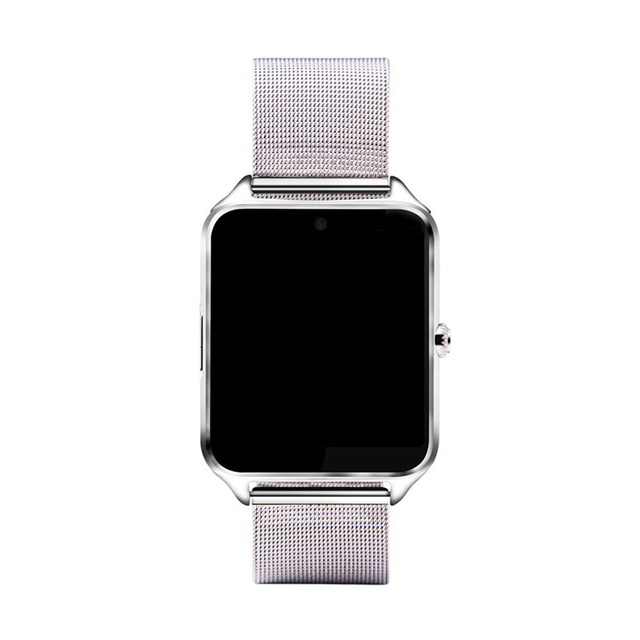 2019 High quality metal steel Z60 Smart watch full Touch Screen Wrist watch Support <strong>SIM</strong>/TF Card with camera for iphone huawei