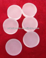 frosted round quartz glass disc