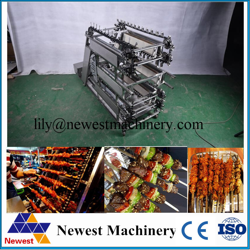 Save labor cost automatic machine rotary bbq grill