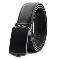 130CM Cheap Men Belt Leather Business Belt With Removable Metal Buckle