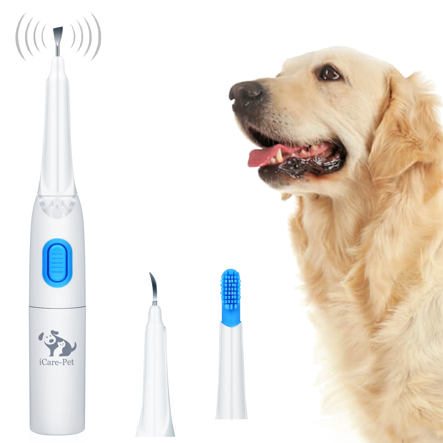Dog Toothbrush Ultrasonic Toothbrush Dental Calculus Teeth Cleaner LED Light Home & Clinic Use Electric Dog Toothbrush