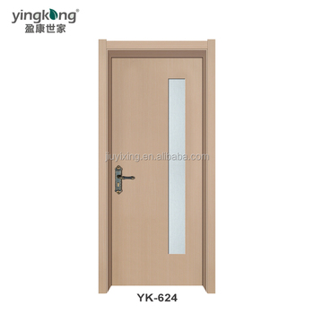 Yk624 Henan Veneer Finish Pre Hung Pvc Interior Wooden Doors Cheap