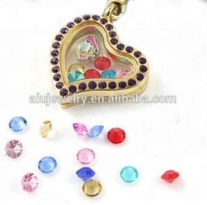Hot sell Gold plated crystal floating locket