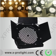 TV Studio equipment High power 120x3W warm & cool white Led Par 64 can stage Light with barn door