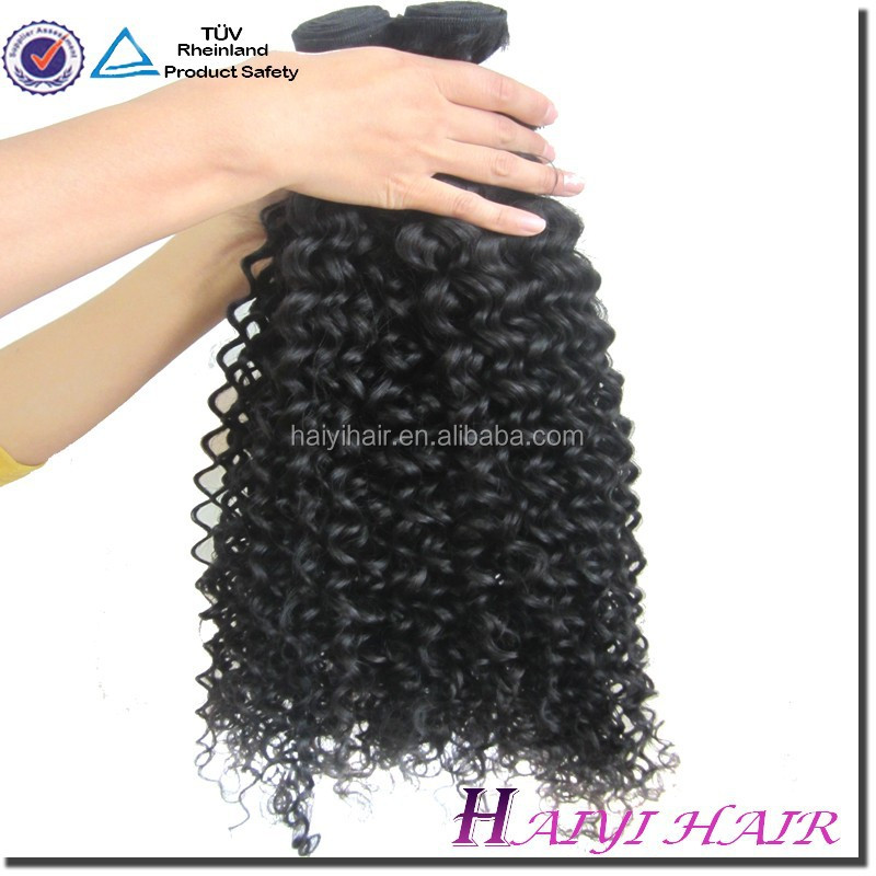 Natural Color Virgin Human Hair French Curl Hair Extension