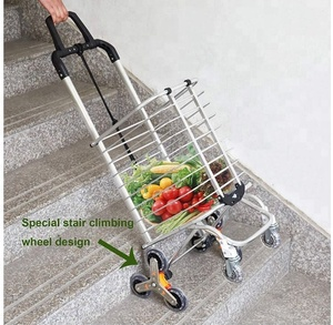foldable shopping trolley bag universal wheels big capacity bag folding shopping cart