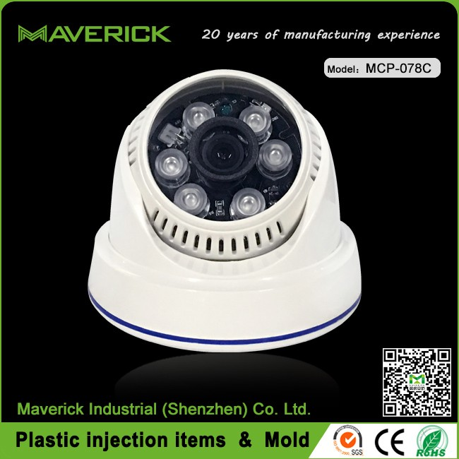 Popular plastic casing IR 30M distance dome camera 720P AHD security housing