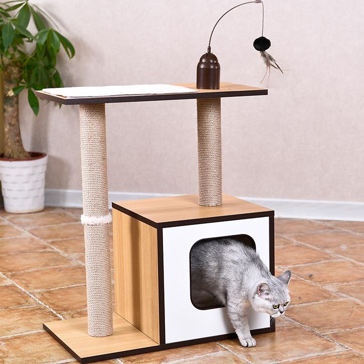 แมวปีน Scratching เฟอร์นิเจอร์แมวบ้านต้นไม้, ไม้แมว