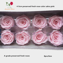 hot sale different types of pink colors natural preserved rose flower