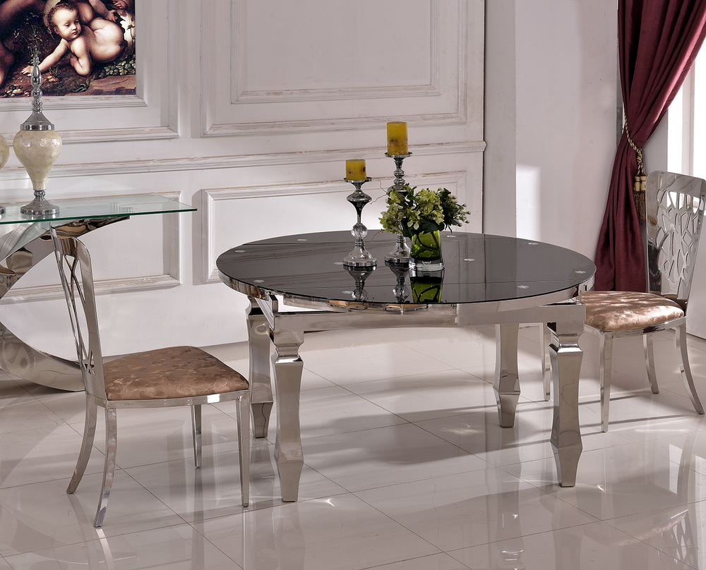 Stainless steel folding dining table - Th389 Fashionable Folding Dining Table Stainless Steel Folding Table