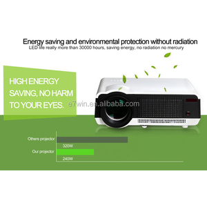 Original Led 86 Projector Mini LED Home Cinema Projector USB SD AV HD Support Full HD 3D Video Multimedia Projector
