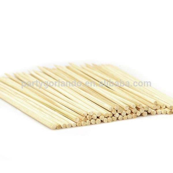 4.0x300mm round strong bbq bamboo skewer in bulk with very sharp tip