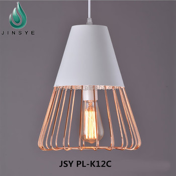 industrial cage lighting. White Wire Metal Marine Pendant Light Industrial Cage Lighting
