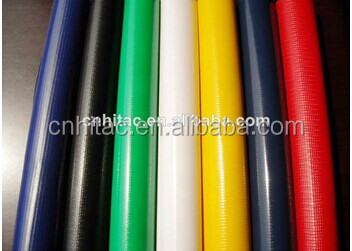 100% polyester yarn with pvc coating material and plain style pvc tarpaulin fabric