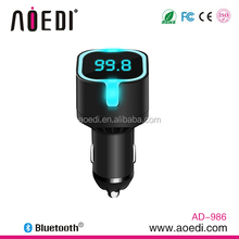 steering wheel bluetooth handsfree car kit with APP control LED light usb car charger AD-986