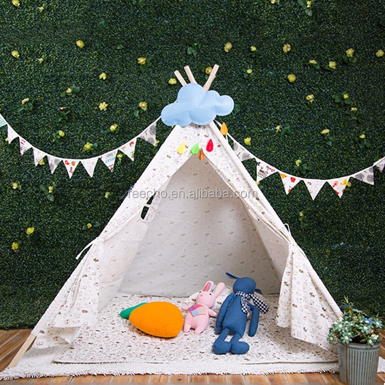 Teepee Indian Tents Kids Cloth Teepee Tent Kids Cotton Canvas