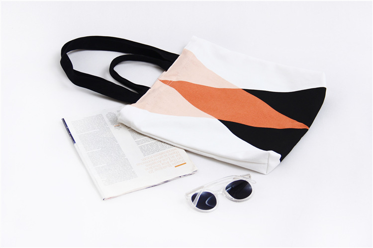 custom Silk screen two sides handmade canvas bag Korean version of the shoulder bag stock student pack