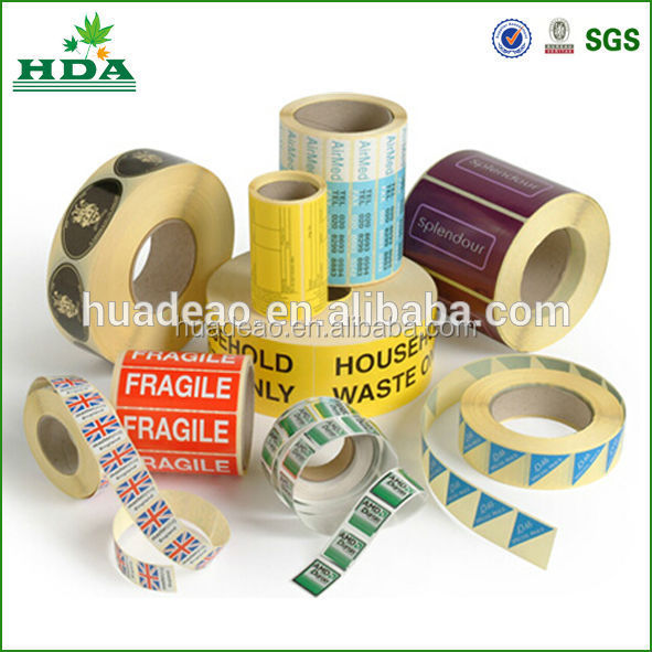 self adhesive sticker labels/ customized sticker printing