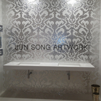 Mp-da01 Silver Mosaic Chinese Restaurant Decoration Supply Toilet Tiles  Glass Mosaic - Buy Tiles Glass Mosaic,Toilet Tiles,Chinese Restaurant